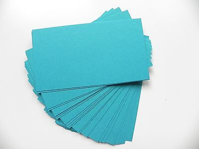 100 ct. Turquoise/ Teal Blue Business Cards 65 lb.Cover-place cards, gift tags