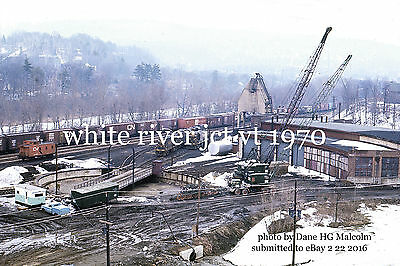 Central Vermont Railway roundhouse end of days 1970
