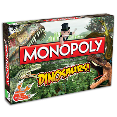 The DINOSAURS MONOPOLY edition Board Games Family Party Gift Easter Christmas