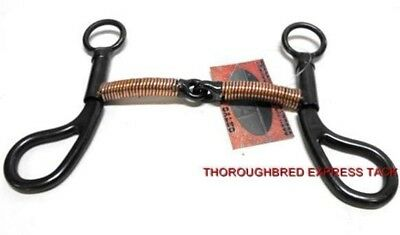 "D.A. Brand 5 "" Black Steel Copper Wrapped Training Bit Horse Tack Equine 7285"