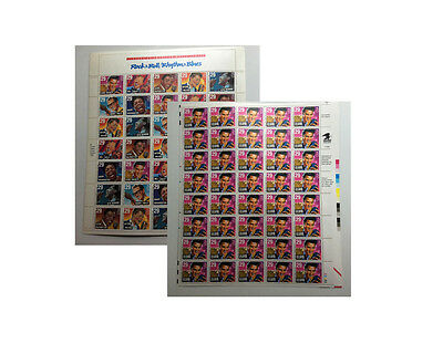 2 Sheets Of Us Stamps-Elvis & Rock & Roll/rhythm & Blues