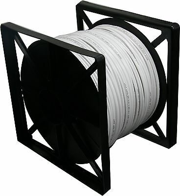 Rg59 Siamese 500 ft Cable 20AWG+18/2 CCTV Security Camera Bulk Wire White color