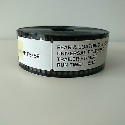 Fear & Loathing 35mm Movie Film Trailers VGC Australian Seller + Fast Shipping