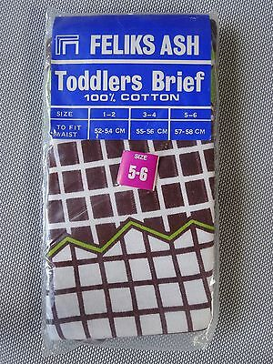Vintage retro 60s unused 5 boys toddlers hipster briefs underpants tags NOS