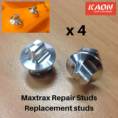 Maxtrax Replacement Teeth Repair Kit - 4 replacement studs; Fix your Maxtrax