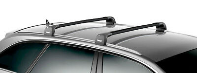 thule wingbar edge black dachtr ger mitsubishi outlander. Black Bedroom Furniture Sets. Home Design Ideas
