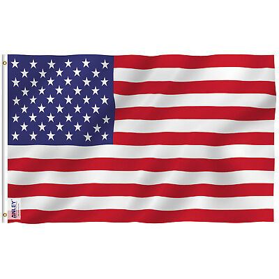 Anley Fly Breeze 3x5 Foot American US Polyester Flag USA Flags 4 X 6 Feet