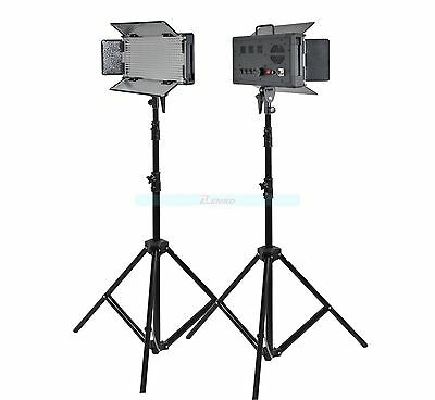 Godox 1000 2X 500 LED Studio Video Continuous Light White Version & Stands Kit
