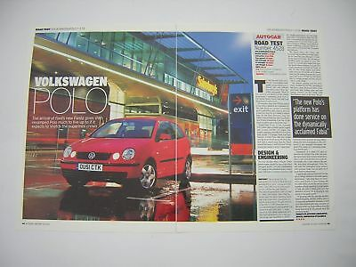 Volkswagen Polo 1.2 SE Road Test from 2002 - Original