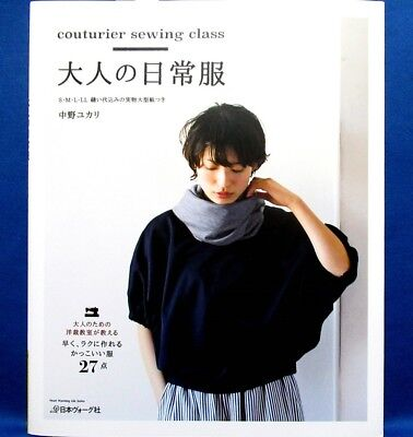 New! Couturier Sewing Class Adult Casual Wear /Japanese Clothes Pattern Book
