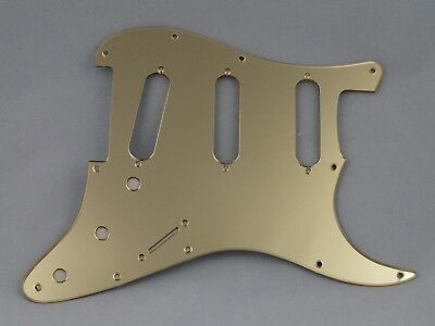 MIRROR GOLD SSS SCRATCH PLATE Pickguard to fit USA/Mex STRATOCASTER Strat