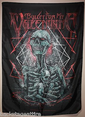 BFMV Bullet For My Valentine Skeleton Mom Cloth Fabric Poster Flag Tapestry-New!