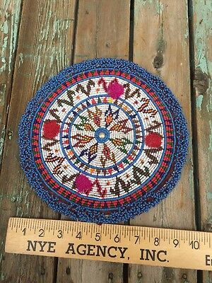 "Vintage PERUVIAN Beaded Piece 10""very Decorative Well Done Great Condition"
