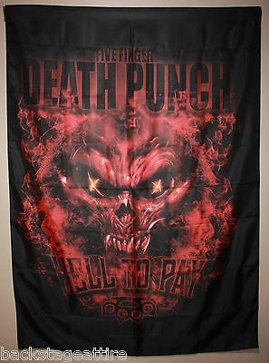 "5FDP Five Finger Death Punch Hell To Pay 30""X40"" Cloth Fabric Poster Flag-New!"