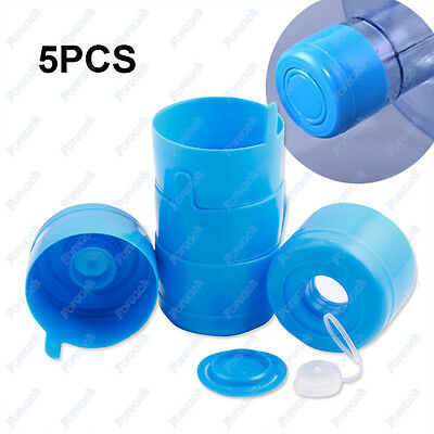 5X55mm 3 & 5 Gallon Water Bottle Snap On Cap Anti Splash  Peel Off Tops