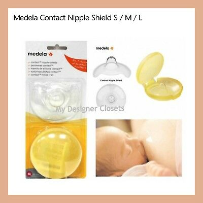 Medela Contact Nipple Shields (S/M/L) - Prevent Cracked Nipples (Breastfeeding)