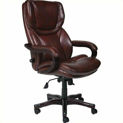 Serta Office Chair In Puresoft Black Faux Leather 150 02 Picclick