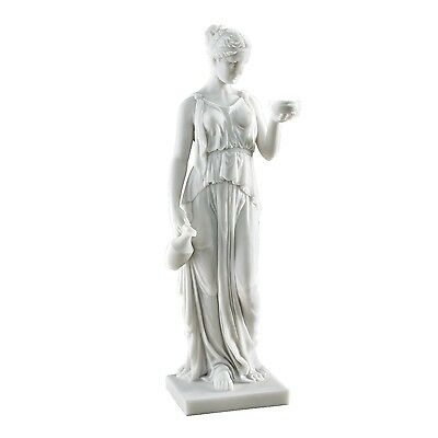 Design Toscano WU75343 Hebe the Goddess of Youth Bonded Marble Resin Statue