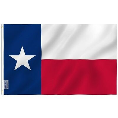 Anley Fly Breeze Texas State Flag 3x5 Foot Polyester Flags Double Stitched