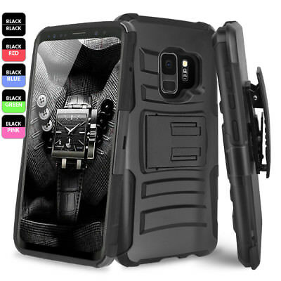 Samsung Galaxy S9/S8/Plus/Note 9/8/S7 Edge Rugged Armor Case Belt Clip Holster