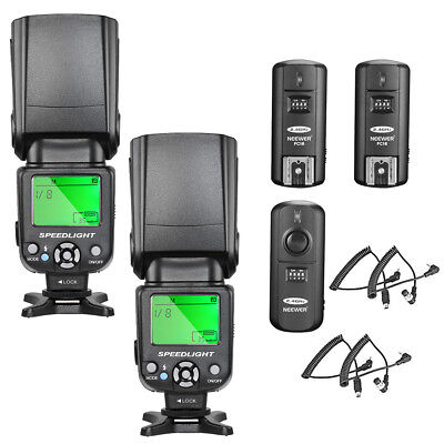 Neewer NW-561 LCD Screen Flash Speedlite Kit for Canon Nikon & Other DSLR Camera