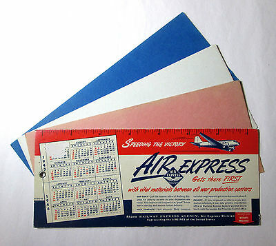 1943 1944 Calendar Blotter Air Express Speeding The Victory WWII Advertising