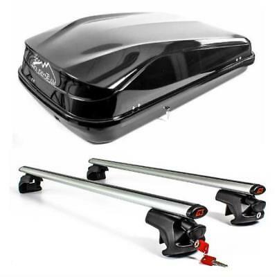 Roof Bars & Box 420 Litre - Nissan X-Trail (with Raised Rails) 2013 Onwards