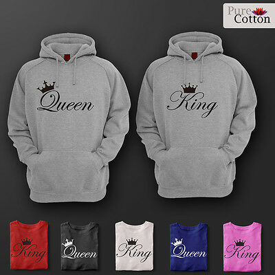 The New Deluxe King & Queen Top Quality HOODIES HIS & HERS GREAT GIFT AND CASUAL