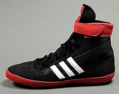 NEW Adidas Combat Speed 4 Wrestling Shoes G96428 Black/White/Red Retail $82