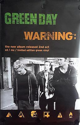 Green Day-Warning Orig. Giant Promo Poster FREE INT SHIPPING
