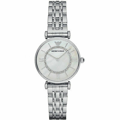 Emporio Armani® watch AR1908 Ladie`s Gianni T-Bar Stainless Steel Bracelet Strap