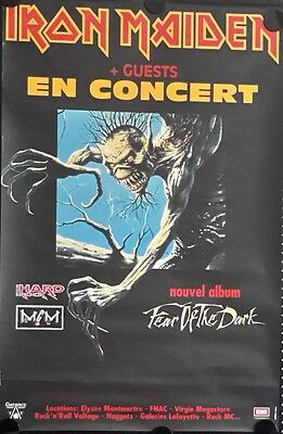 Iron Maiden.Orig.French Concert Poster 31x47inch FREE INTERNATIONAL SHIPPING