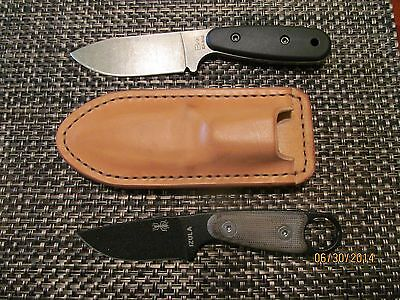 Hand Crafted Leather Sheath Fits Becker Kabar BK11 BK14 BK24 ESEE Izula Izula II