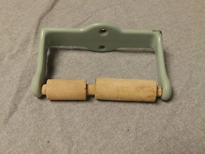 Antique Cast Iron Jadeite Porcelain Toilet Paper Holder Old Vtg Bathroom 250-16