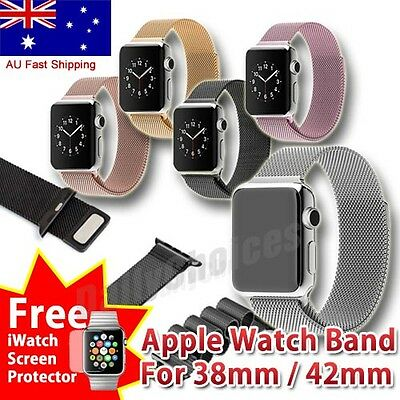 Milanese Stainless Steel Watch Bands Strap For Apple Watch, iWatch 38,42mm