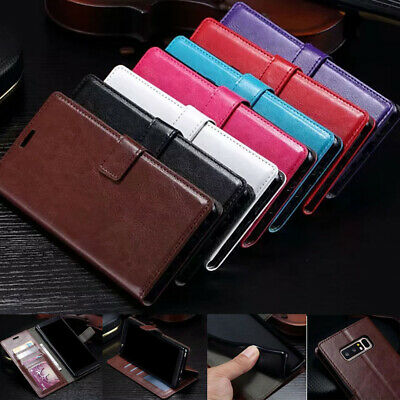 Magnetic PU Leather Flip Card Holder Wallet Case Cover For Samsung Phones/Note 9