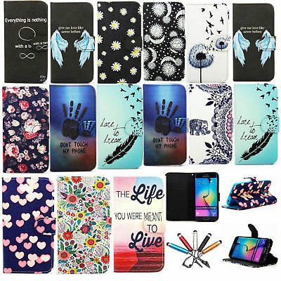 For Samsung Galaxy Phone Fashion Pattern Flip Leather Card Slot Stand Case Cover