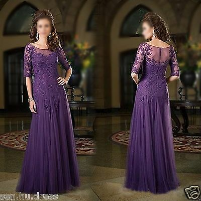 Long Mother's of The Bride Wedding Gown Formal Evening Party Prom Dresses Custom