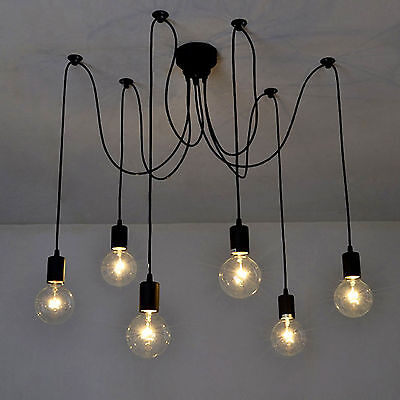 Modern Vintage DIY Chandelier Lights Ceiling Spider Pendant Industrial Light