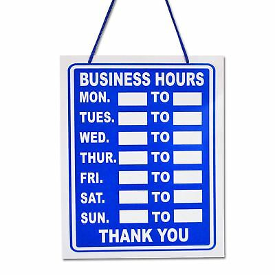 Blue Business Hours Hanging Shop Sign / Restaurant - Opening Times