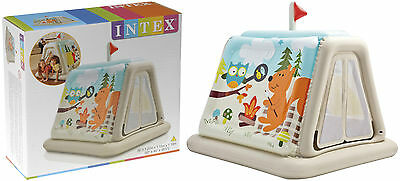 Intex Animal Trails Indoor Inflatable Childrens Play Tent Kids Playhouse Toy