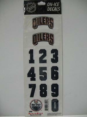 Sport Star ML511 Edmonton Oilers NHL On-Ice Hockey Helmet Decals Number Logo