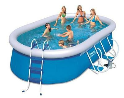 Bestway 16ft Oval Fast Set Garden Pool with Pump, Ladder, Cover & Ground Cloth