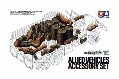 TAMIYA 35229 1/35 Allied Vehicles Accessory Set