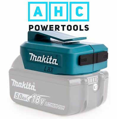 Makita DEAADP05 Li-Ion USB Adaptor for 14.4 & 18v LXT Batteries
