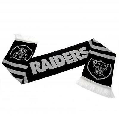 Oakland Raiders Scarf Jacquard Knit Scarf Gift New Official Licensed NFL Product