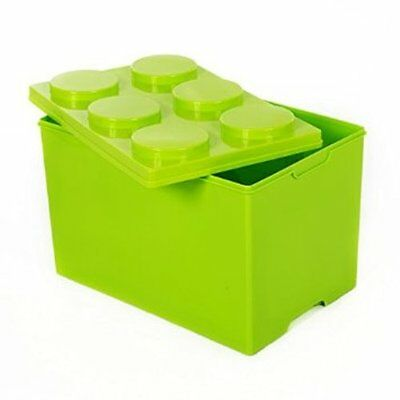 Childrens Building Block Storage Box 52Ltr Lime Green or Red
