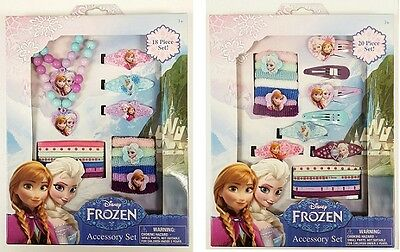 Disney Frozen Hair Clips Ponies Accessory Set Gift Jewelry Anna Elsa Olaf Girls