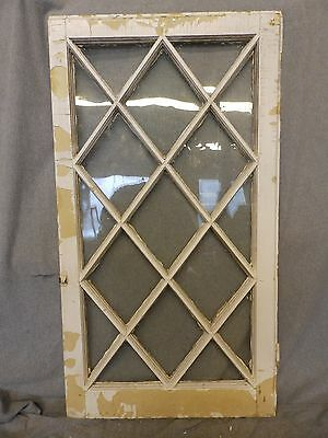 Antique Casement Window Sash Diamond Cabinet Door Shabby Cottage Chic 262-16
