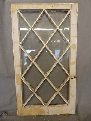 Antique Casement Window Sash Diamond Cabinet Door Shabby Cottage Chic 263-16
